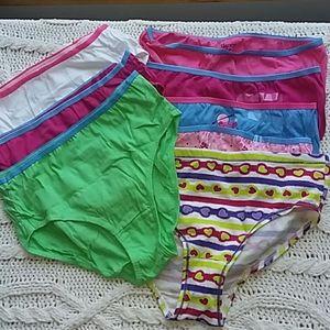 Girls size 14, Hanes, bundle of 8 pair Underpants